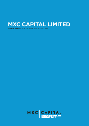 MXC Capital annual report 2016