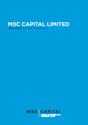 MXC Capital annual report 2017
