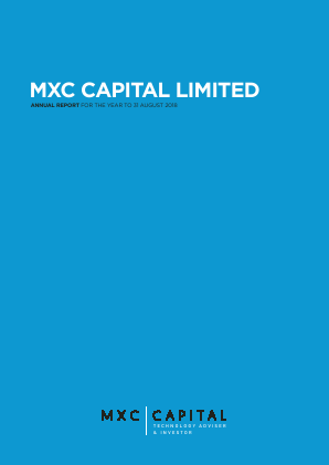 MXC Capital annual report 2018
