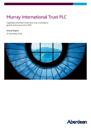 Murray International Trust annual report 2016