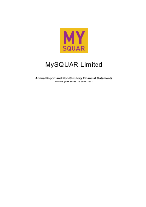 Mysquar annual report 2017
