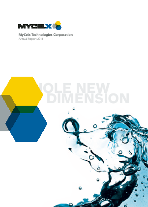Mycelx Technologies Corp annual report 2011