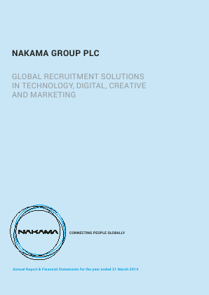Nakama Group Plc annual report 2014