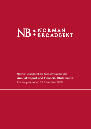 Norman Broadbent Plc annual report 2009