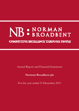 Norman Broadbent Plc annual report 2011
