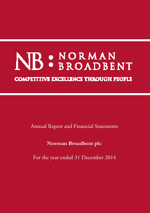 Norman Broadbent Plc annual report 2014