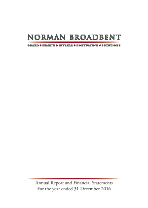 Norman Broadbent Plc annual report 2016