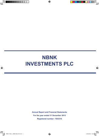 NBNK Investments Plc annual report 2013