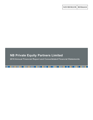 NB Private Equity Partners annual report 2016