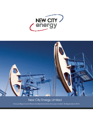 New City Energy annual report 2014
