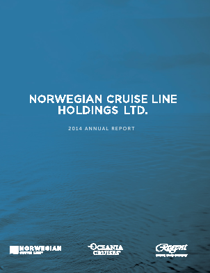 Norwegian Cruise Line Holdings . annual report 2014