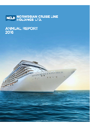 Norwegian Cruise Line Holdings . annual report 2016