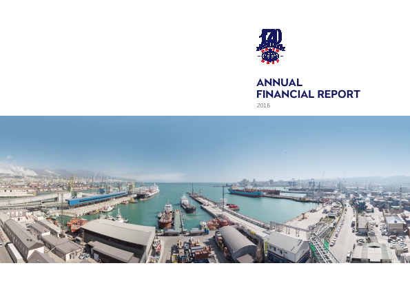 Novorossiysk Commercial Sea Port annual report 2016