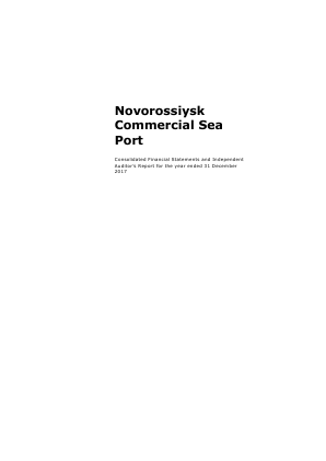 Novorossiysk Commercial Sea Port annual report 2017
