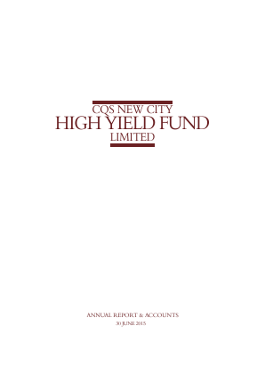 CQS New City High Yield Fund annual report 2015