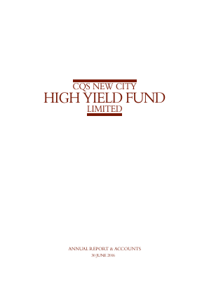 CQS New City High Yield Fund annual report 2016
