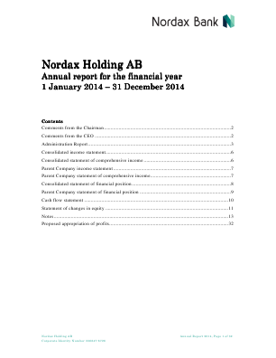 Nordax Group annual report 2014