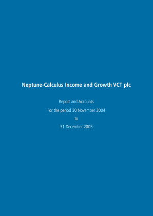 Neptune-calculus Income&growth VCT annual report 2005