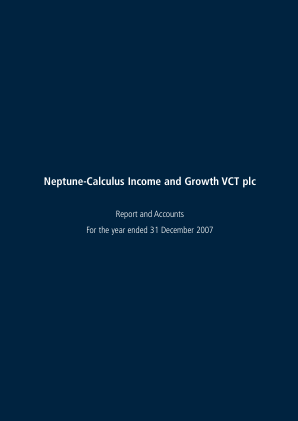 Neptune-calculus Income&growth VCT annual report 2007