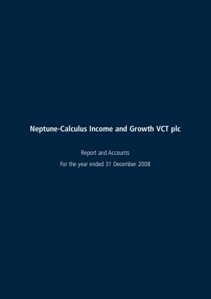Neptune-calculus Income&growth VCT annual report 2008