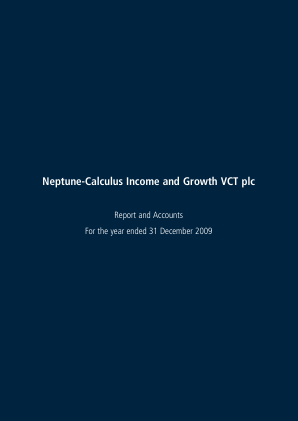 Neptune-calculus Income&growth VCT annual report 2009