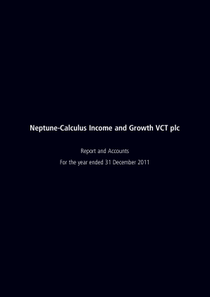 Neptune-calculus Income&growth VCT annual report 2011