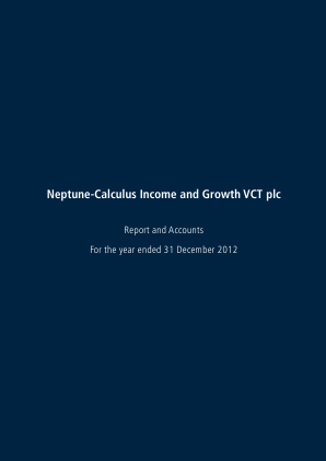 Neptune-calculus Income&growth VCT annual report 2012