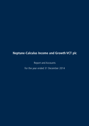 Neptune-calculus Income&growth VCT annual report 2014