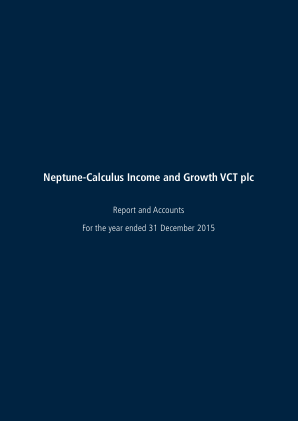 Neptune-calculus Income&growth VCT annual report 2015