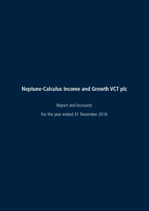 Neptune-calculus Income&growth VCT annual report 2016