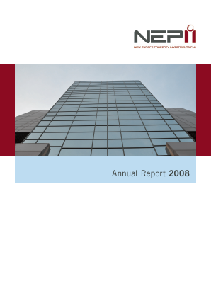New Europe Property Investments Plc annual report 2008