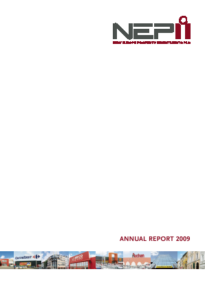New Europe Property Investments Plc annual report 2009