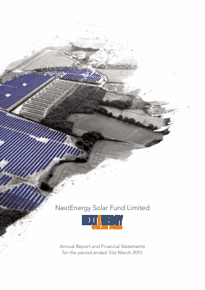 Nextenergy Solar Fund annual report 2015