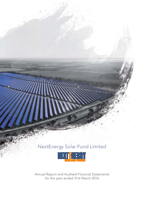 Nextenergy Solar Fund annual report 2016
