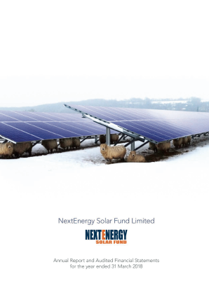 Nextenergy Solar Fund annual report 2018