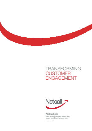 Netcall annual report 2014