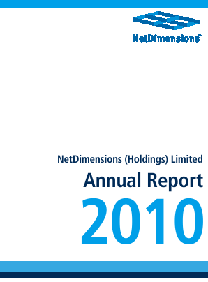 Netdimensions annual report 2010