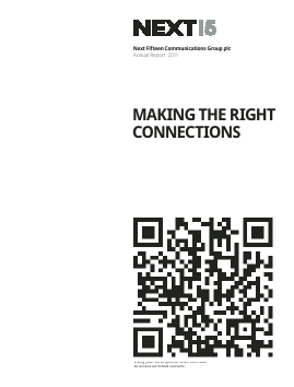 Next Fifteen Communications Group annual report 2009