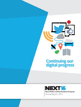 Next Fifteen Communications Group annual report 2013