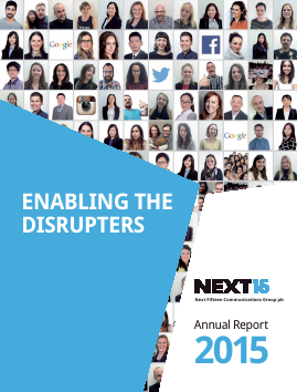 Next Fifteen Communications Group annual report 2015