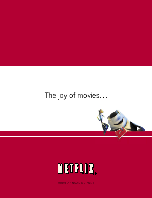 Netflix, Inc. annual report 2004