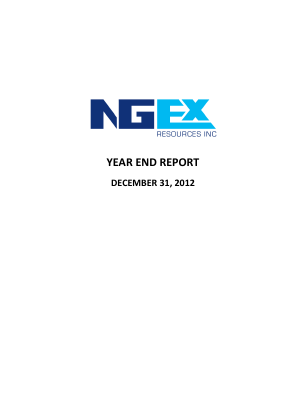 NGEx Resources annual report 2012