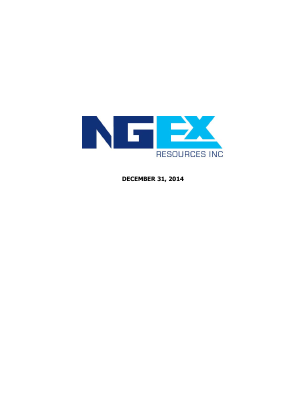 NGEx Resources annual report 2014
