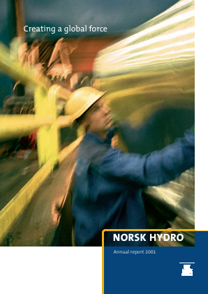 Norsk Hydro Asa annual report 2001