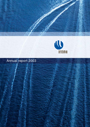 Norsk Hydro Asa annual report 2003