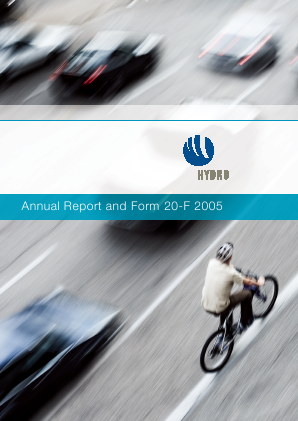 Norsk Hydro Asa annual report 2005