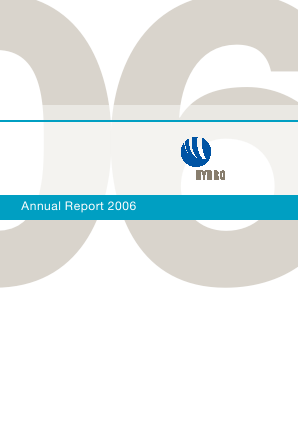 Norsk Hydro Asa annual report 2006