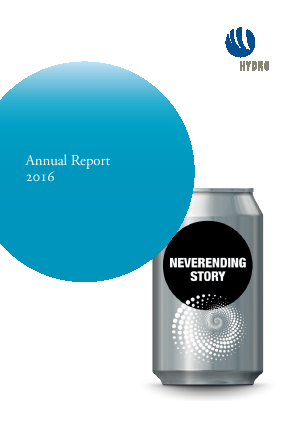 Norsk Hydro Asa annual report 2016