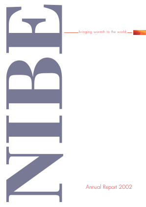 NIBE Industrier annual report 2002