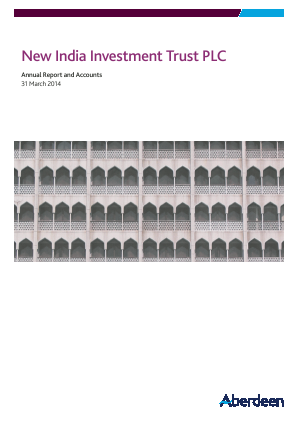 Aberdeen New India Investment Trust annual report 2014